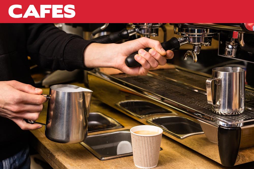 • Coffee machines • Hot and cold food displays • Cake displays • Deli cabinets • Ice machines • Juicers • Food processors • Meat slicers