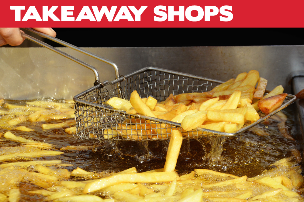 • Deep fryers • Pie warmers • Toasters • Microwaves • Milkshake makers • Ice cream machines • Slushie machines